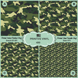 graphic relating to Printable 651 Vinyl identified as Info regarding Environmentally friendly Military services Camouflage Released HTV, Oracal 651, Siser, Craft Vinyl- 499