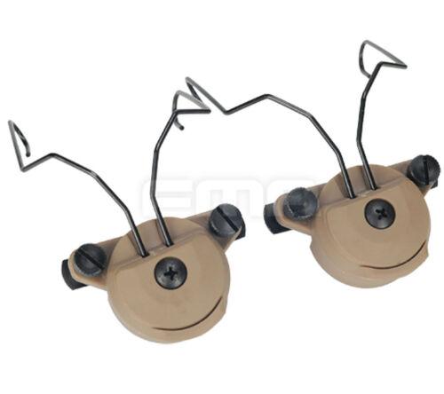 FMA EX Headset Helmet Rail Adapter Set GEN2 Suitable for MSA headphones DE