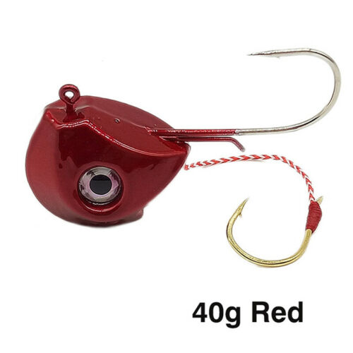 40g-100g Fishing Lead Jig Head Lure Strong Hooks Sea Boat Fish Jig Lure CB