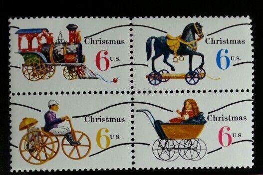 1970 6c Christmas Toys, Block of 4 Scott 1415-18a Mint