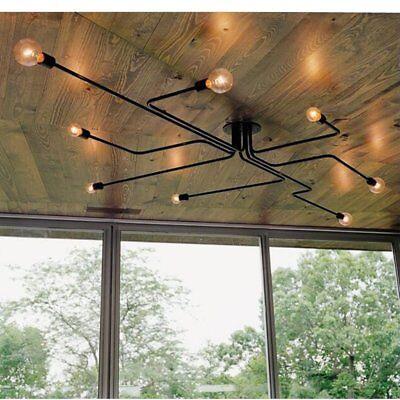 Retro Ceiling Light Modern Vintage Industrial Metal E27 Pendant Lamp 4/6/8 Way