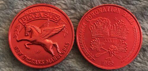 1985 Krewe Of Pegasus Coronation Ball 10-Gauge Mardi Gras Doubloon