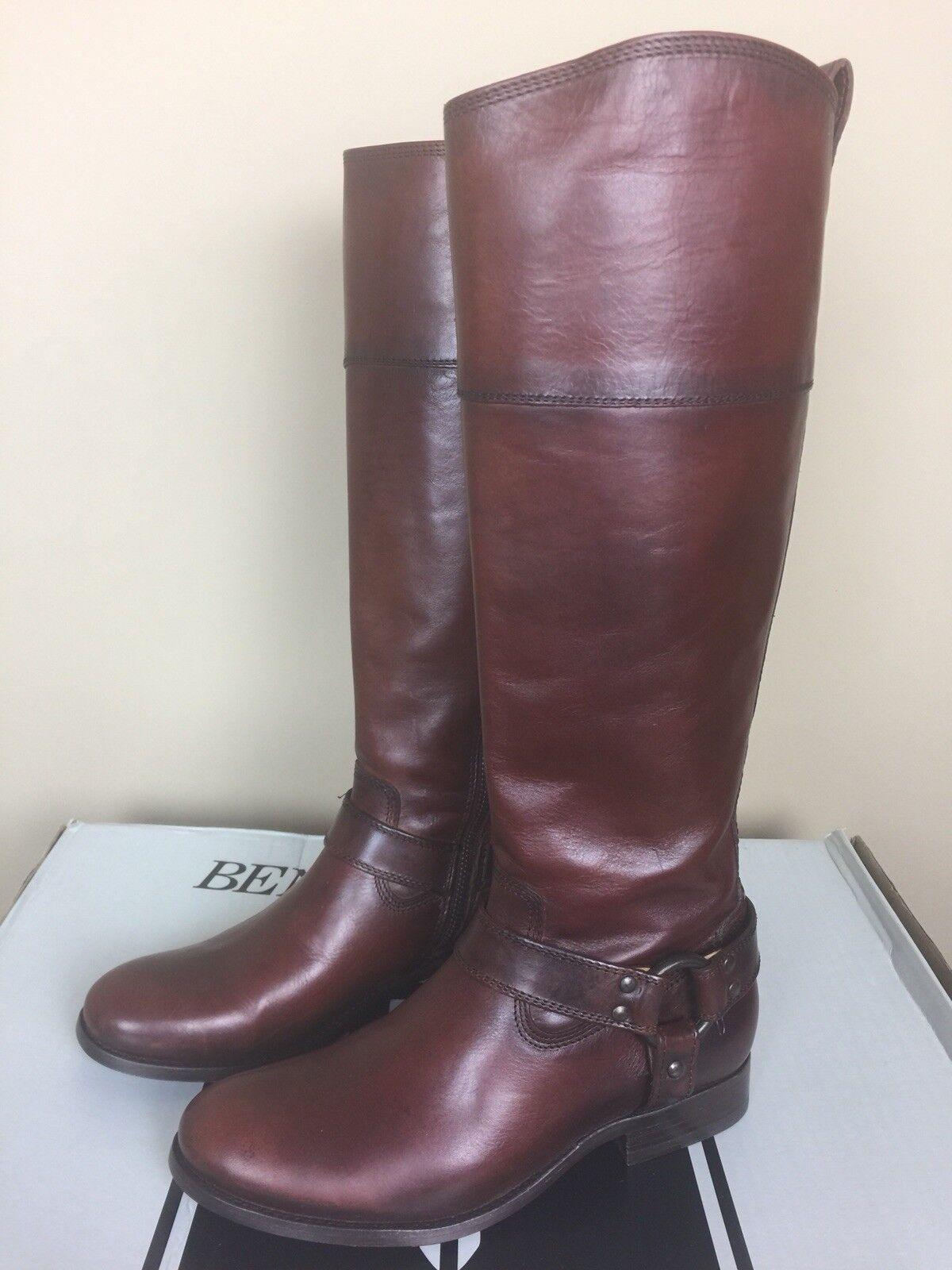 NIB Frye Melissa Harness Inside Zip Redwood Women's Boots Size 6.5