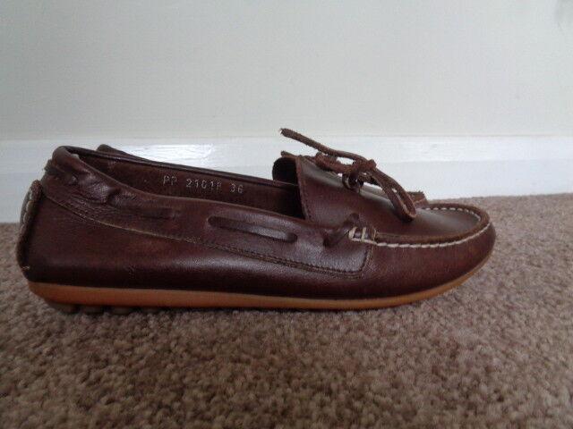 Russell & Bromley Marrón 100% Cuero Mocasín Zapatos Talla 3 3 3 ligeramente desgastado  alta calidad y envío rápido