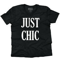Just Chic Cute Women Shirts Funny Picture Shirt Cute Gift V-neck T-shirt
