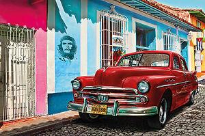 GREAT-ART-Oldtimer-in-Havanna-Wanddekoration-Wandbild-Kuba-Motiv-XXL-Poster