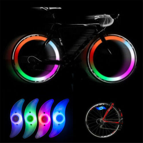 LED Colorful Bike Bicycle Cycling Spoke Wire Tire Tyre Wheel Bright Light Lamp