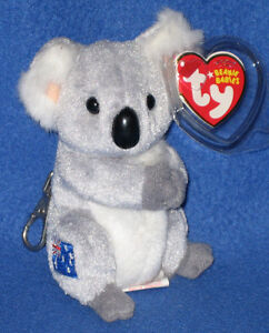 TY KEY CLIPS - KOOWEE THE KOALA BEAR - MINT with MINT TAGS