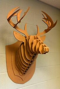 Image Is Loading Taxidermy Full Size Cardboard DEER HEAD Antlers Crafts