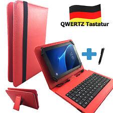 Deutsche Tastatur BQ Aquaris M10 Ubuntu Edition 10.1 zoll Case Tablet Tasche Rot