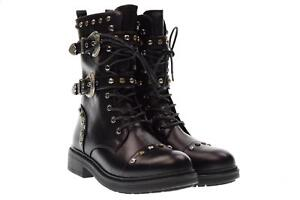 Dettagli su Gold&Gold scarpe donna anfibi FA207 NERO A17
