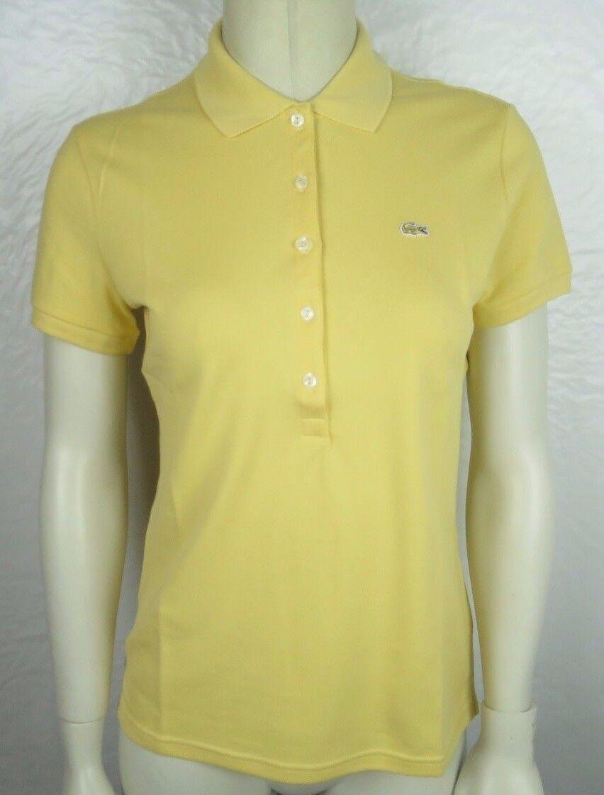 LACOSTE Damen Polo Shirt Mod. PF269E Gelb damen Poloshirt 1 4-Arm NEU NEW C3