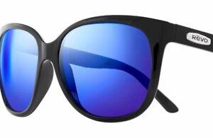 fd9b6fa407 NEW  REVO GRAND CLASSIC Black POLARIZED Blue GLASS Lens Sunglass ...
