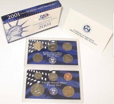 2001-S US Mint Proof Set