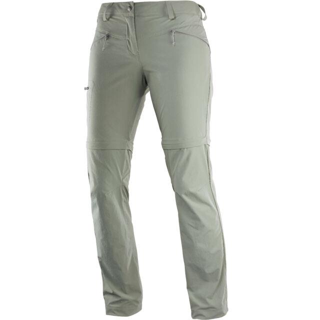 Salomon Wayfarer Zip Pant Womens Hiking Outdoor Trousers Removable Legs