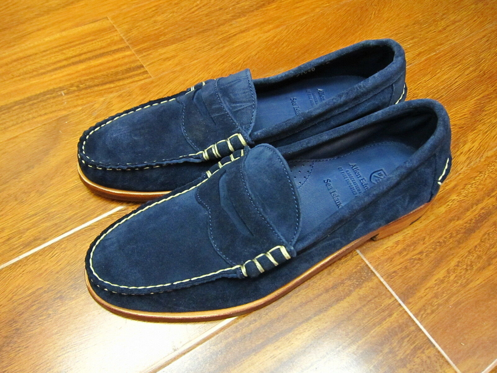 Allen Edmonds Sea Island Slip-on Loafer  69133 Navy Made in USA New with Box