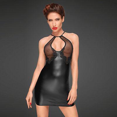 NOIR HANDMADE Decadence Wetlook Mini Kleid ♥in Geschenkbox♥ Transparent Clubwear