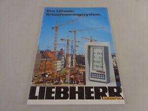 Prospectus/Brochure Liebherr The Litronic-Kransteuerungssystem From 03/1992