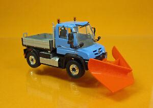 Busch-50923-Mercedes-Unimog-u-430-spitzpflug-camiones-ano-de-fabricacion-2013-scale-1-87-nuevo