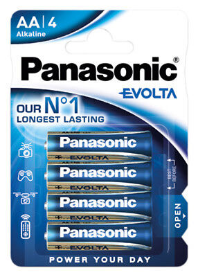 36 X Panasonic Evolta 1,5v Aa/mignon/lr6 Batteria Alcaline-