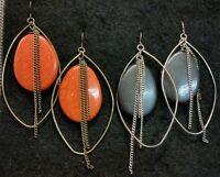 Target Stone Oval/hoop Earrings (brand New)