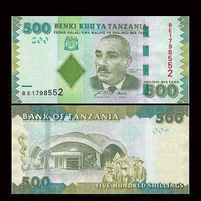 500  SHILLINGS  2010  P 40   LOT 5 PCS  Uncirculated Banknotes TANZANIA