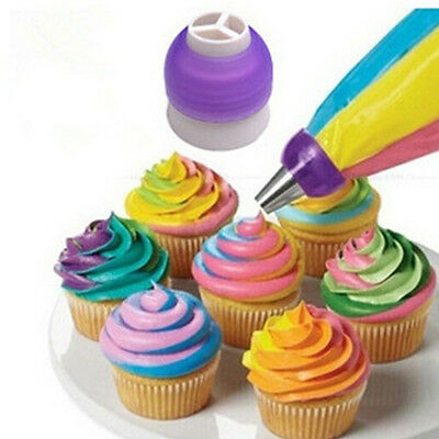 Fine 3 Color Cupcake Cookie Cutters Cream Decorating Bags Cake Tools Brand New