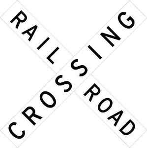 Details about RAILROAD CROSSING ADVANCE WARNING SIGN Vinyl Decal / Sticker  ** 5 Sizes **