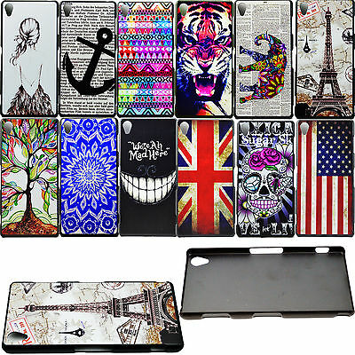 Plastic Hard Hold Back Phone Skin Shell Case Cover For Sony Xperia Phone Models