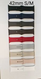 OEM Apple Silicone iWatch Bands 42mm S/M various Colors, for 42mm/44mm iWatch