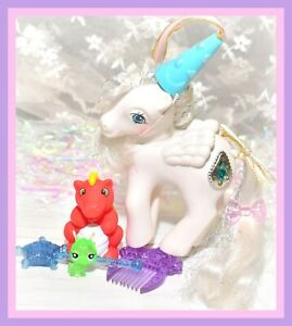 My-Little-Pony-MLP-G1-VTG-EURO-UK-Princess-Tiffany-PEARL-Red-DRAGON-FIERY