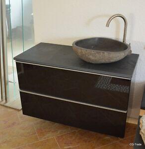Marmor Waschbecken sale waschtisch hochglanz schwarz flußstein waschbecken schiefer