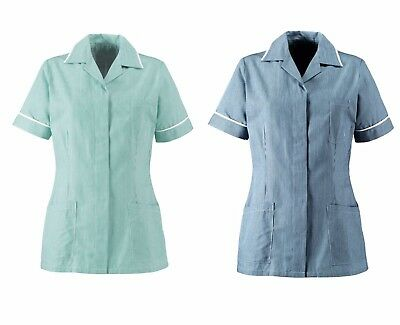 Alexandra ST313 Nurses White Navy Stripe Health Uniform Tunic   E5 SA38