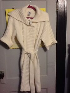 JcPenney-039-s-Worthington-Cable-Knit-Sweater-Duster-Women-039-s-Large-Ivory-NWT-NEW-58