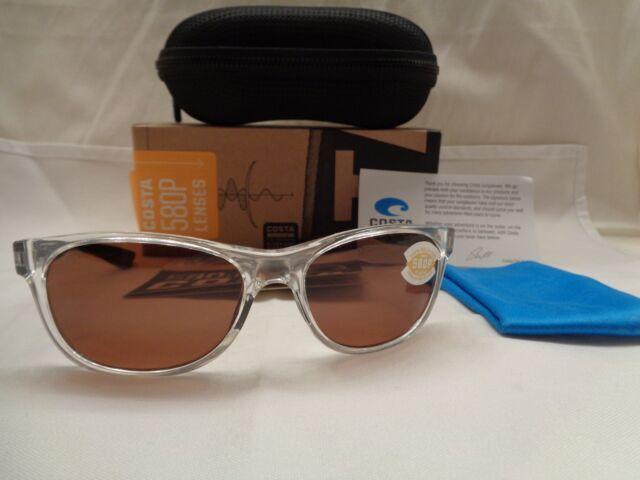 1e9522b63380 Costa Del Mar Prop Polarized Black Pearl Amber 580P Sunglasses New With Tags