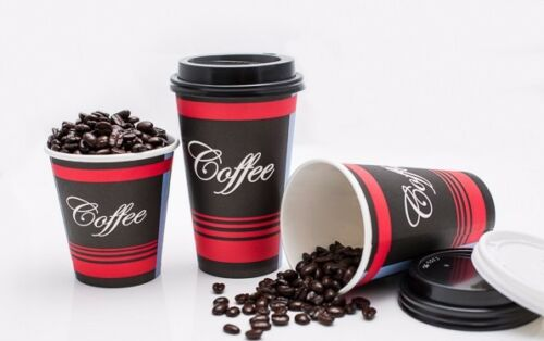 Eco Friendly Poly Paper Disposable Hot Tea Coffee Cups No Lids 250 Pack 16 Oz