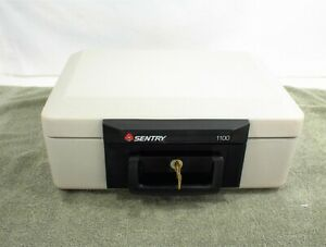 SENTRY-1100-SAFE-LOCK-BOX-1-KEY-HOME-SECURITY-FIRE-RESISTANT
