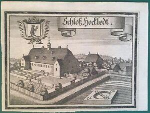 Kupferstich-SCHLOSS-HACKLEDT-Eggerding-Oberoesterreich-Michael-Wening-1721