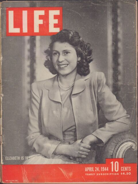 LIFE April 24,1944 Elizabeth is 18 / Trouble in Burma / First Negro Ensigns