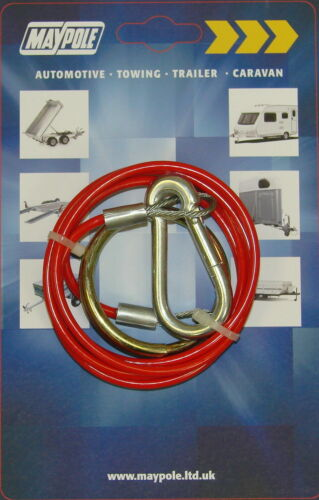 Maypole Break-Away Cable MP498 CARAVAN AND TRAILER TOWING BRAKE CABLE