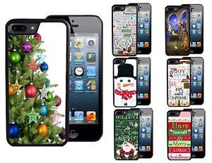CHRISTMAS-CASE-FOR-iPHONE-XR-XS-MAX-8-7-6-TREE-SNOWMAN-SANTA-NATIVITY-RUDOLPH
