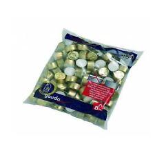 BOLSIUS GOUDA BAG OF 100, 8 HOUR GOLD CUP TEA LIGHT TEALIGHT WAX CANDLES