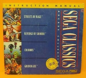 Sega-Classics-Sega-CD-Instruction-MANUAL-ONLY-No-Game