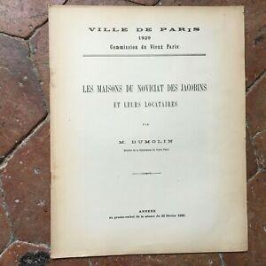 Dumolin-LES-MAISONS-DU-NOVICIAT-DES-JACOBINS-et-leurs-locataires-1929