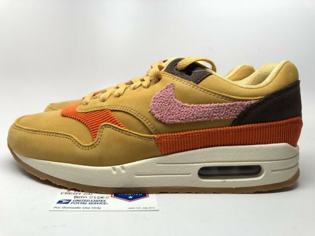 Nike Air Max 1 Crepe Sole Wheat Gold Rust Pink Size 8 in Hand