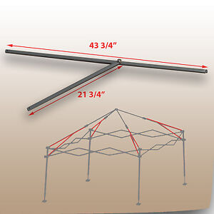 Image is loading Coleman-10-x-10-Straight-Leg-Canopy-Gazebo- & Coleman 10 x 10 Straight Leg Canopy/Gazebo 2 PEAK TRUSS Bars ...