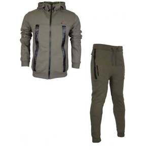 Born-Rich-Smalling-Redknapp-Hooded-Zip-Up-Khaki-Tracksuit