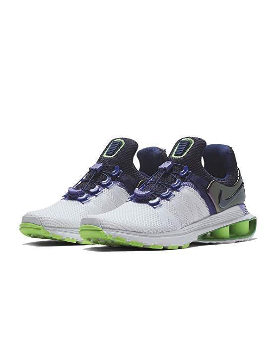 Nike Nike Nike Shox Gravity shoes Women's Sizes 69.5 White Fushion purple AQ8554 105 a35dcf