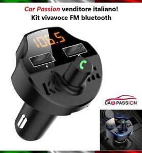 KIT-VIVAVOCE-BLUETOOTH-AUTO-CELLULARE-SMARTPHONE-LETTORE-MP3-USB-FM-CARICATORE