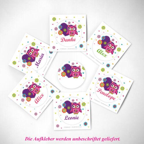 Umschläge und Geschenktüten Einladungskarten Kindergeburtstag Eule incl